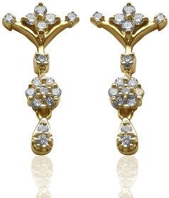 Azira Jewels Filigree Diamond Earrings