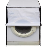 Glassiano White Colored Washing Machine Cover For Fully Automatic Front Load 8 Kg to 8.5 Kg Model