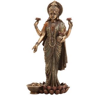 Shivika Enterprises Goddess Laxmi Wealth Prosperity Idol For House Dcor /Gifts/Diwali Gifts/House Warming/Wedding Gift