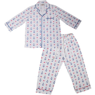 69e5e74ed3fb4 GiggleBuns Cotton Night Suit Set for baby boys sleepwear for kids- 0-3Months