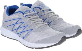 Lancer Lace-up Gray Mesh EVA Running Shoes For Men
