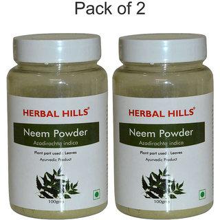 Herbal Hills Neem patra powder - 100 gms - Pack of 2