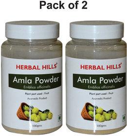 Herbal Hills Amla Powder - 100 gms - Pack of 2