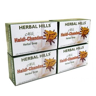 Herbal Hills Milk Chandan Turmeric (pack of 4)