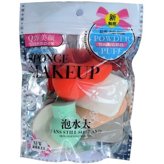 6 pc Make Up Cosmetic Foundation Sponge Powder Facial Puff Different Shapes