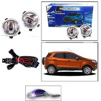 Uneestore-Annexe Fog Lights For Eco Sport - Set Of 2 With Wiring