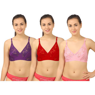 Body Liv Wedding Net Bra Pack of Three For Girls