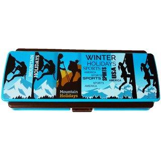 Pencil Box Space Saver Sport Design, Blue