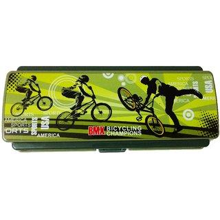 Pencil Box Space Saver Sport Design, Green