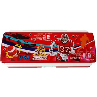 Pencil Box Space Saver Sport Design, Red