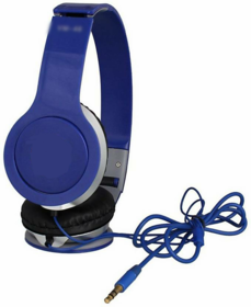 Headphone VM-46 (Blue) Over Dynamic Wire Earphone