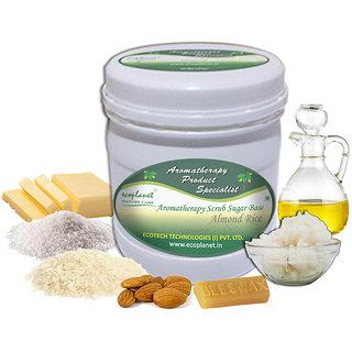 ecoplanet Aromatherapy Scrub Sugar Base Almond Rice 1 Kg Exfoliating Moisturizing Scrub