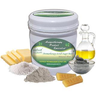 ecoplanet Aromatherapy Scrub Sugar Base Mineral Mud 1 Kg Detoxifying and Exfoliating Scrub