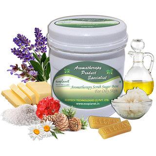 ecoplanet Aromatherapy Scrub Sugar Base For Oily Skin 1 Kg Oil Control and Detoxifying Scrub