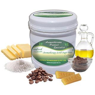 ecoplanet Aromatherapy Scrub Sugar Base Coffee 1 Kg Skin Smoothening Scrub