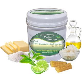 ecoplanet Aromatherapy Scrub Sugar Base Tea Tree Lime 1 Kg Anti Bacterial and Whitening Scrub