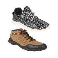 SHOEFLY Men's Smart Casuals Combo Of Brown And Black