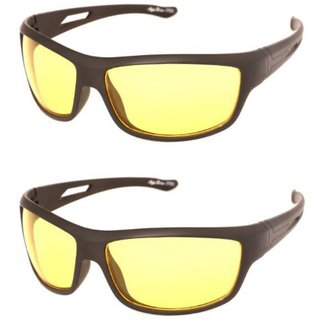 069144d3c0 Buy Perfect Night Driving Pack of 2 Night vision yellow glasses ...