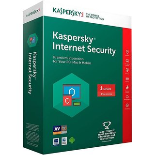 Kaspersky Internet Security 2017 1 Pc 3 year (1cd 1095days valid serial key Free Plastic Cd cover for Safe the cds From