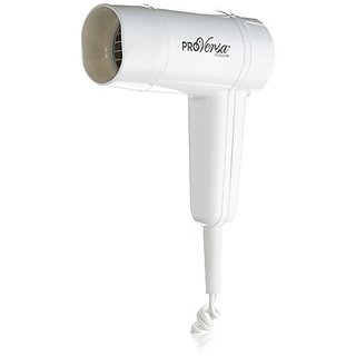 Jerdon JWM5CF Wall Mount Hair Dryer with 2-Speed and Heat Settings, 1500-Watts, White Finish