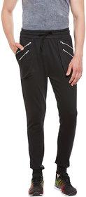 Gritstones Black Regular Fit Track Pant