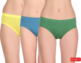 Care In Combo Pack of 3 Pc.  Women's Cotton Bikini / Hipster Panties Comfortable Briefs innerwear Panty - 1361
