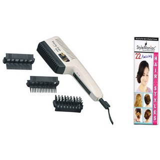 Style Maniac 3 in 1 hair dryer set with an amazing freebie hairstyles booklet