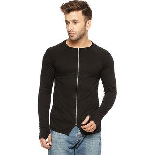 Gritstones Black Cotton Zipper Jacket