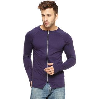 Gritstones Navy Cotton Zipper Jacket