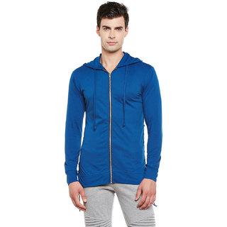 Gritstones Indigo Full Sleeves Hooded Zipper Jacket