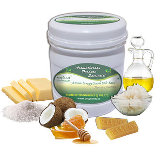 ecoplanet Aromatherapy Scrub Salt Base Honey Coconut 1 Kg Anti Acne and Pimple Reduction Scrub