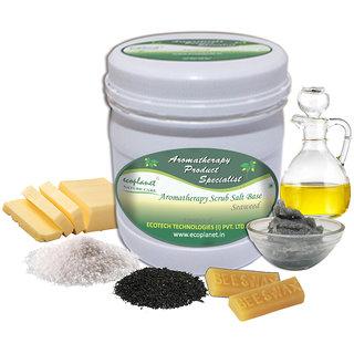 ecoplanet Aromatherapy Scrub Salt Base Seaweed 1 Kg Revitalizing Skin Scrub