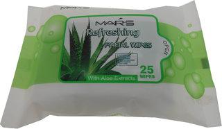 Mars Refreshing Facial Wipes With Aloe Vera Falvour MarsFA001