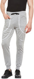 Gritstones Grey Melange Regular Fit Track Pant