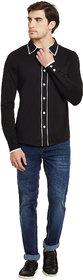 Gritstones Black/White Regular Collar Shirt