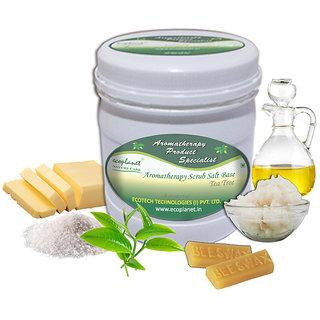 ecoplanet Aromatherapy Scrub Salt Base Tea Tree 1 Kg Anti Bacterial Scrub