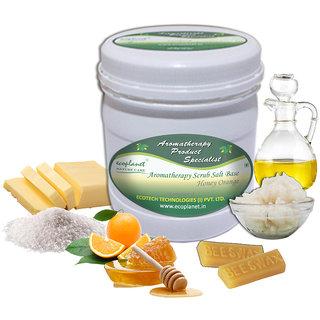 ecoplanet Aromatherapy Scrub Salt Base Honey Orange 1 Kg Exfoliating and Moisturizing Scrub