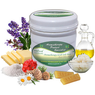ecoplanet Aromatherapy Scrub Salt Base For Oily Skin 1 Kg Oil Control and Detoxifying Scrub