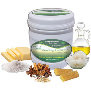 ecoplanet Aromatherapy Scrub Salt Base Indian Spice 1 Kg Disinfectant and Detoxifying Scrub