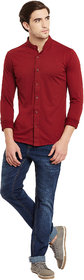 Gritstones Maroon Regular Collar Shirt