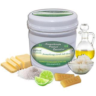 ecoplanet Aromatherapy Scrub Salt Base Lime 1 Kg Glowing Skin and Dark Spots Removal Scrub