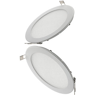 Parth Led Slim Panel 18W Round 2Pcs Colour  - Warm  With 2Year Warranty
