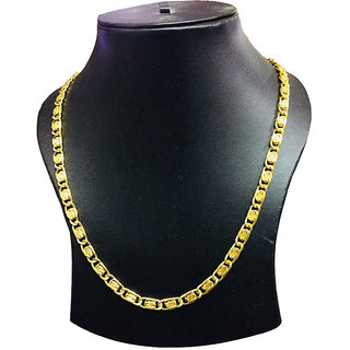 One Gram 22kt Gold Plated Neck Chain for men Daily Wear 20 Inch-Prod09
