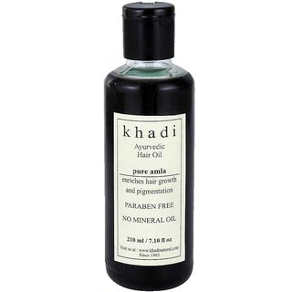 Khadi Ayurvedic Pure Amla  Hair Oil (210 ml)