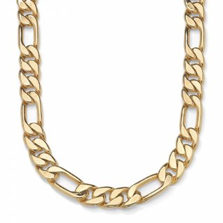 One Gram 22kt Gold Plated Neck Chain for men Daily Wear 20 Inch /10 mm Figaro-XC-110