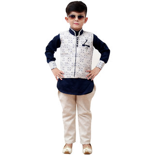 Buy Benjoy Kids Kurta Pyjama And Waistcoat Set For Boys (9-10 Years) Online  - Get 36% Off 0e7f6f9b4