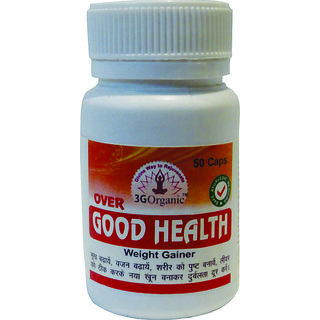 Over Good Health Weight Gainer 50 Capsules 500 Mg BUY 1 GET 1 FREE From 3G Organic