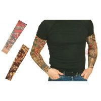 Wearable Arm Tattoo Skin Cover Sleeves For Style / Biking Sun Protection