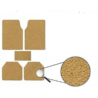 Generic Anti Slip Noodle Car Floor Mats SET OF 5 Beige For Maruti Ritz