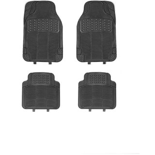 Generic Rubber Car Floor / Foot  Mats Set Of 4 Grey For Tata Indica